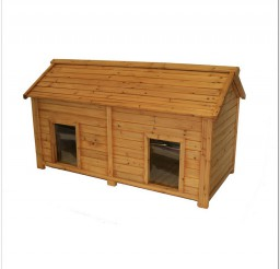816x816px Insulated Cedar Duplex Dog House Photo Inspirations Picture in Dog